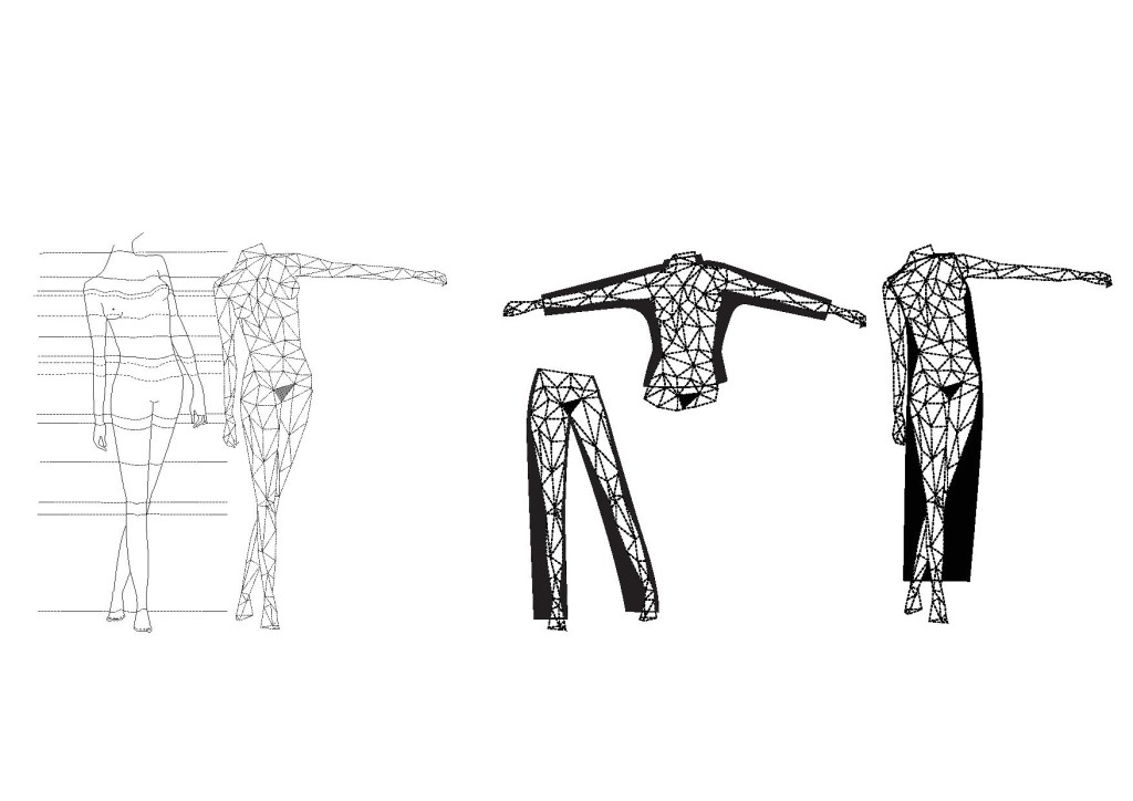 We want to research an alternative production method, without the need of any flat pattern parts or sewing. A method in which designers morph the outlines of a body scan into a three-dimensional design.